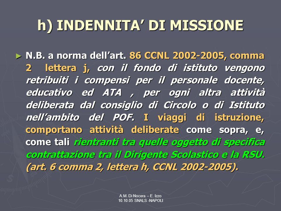 A.M.Di Nocera – E. Izzo 10.10.05 SNALS -NAPOLI N.B.