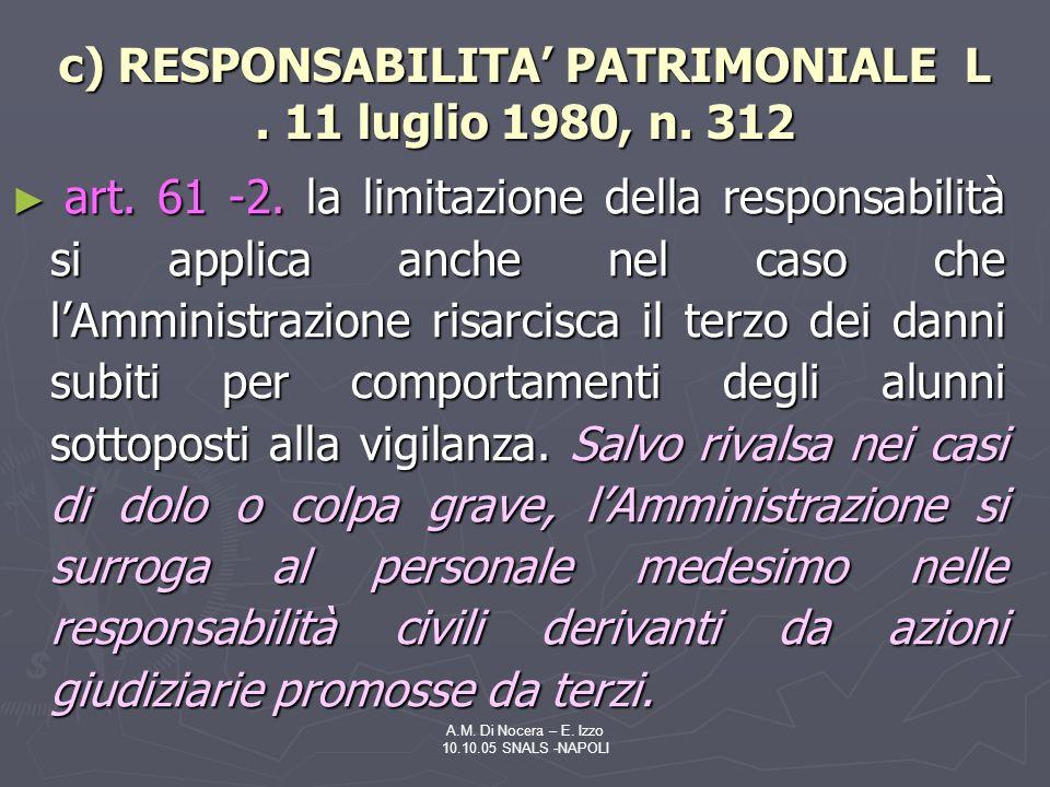 A.M.Di Nocera – E. Izzo 10.10.05 SNALS -NAPOLI art.