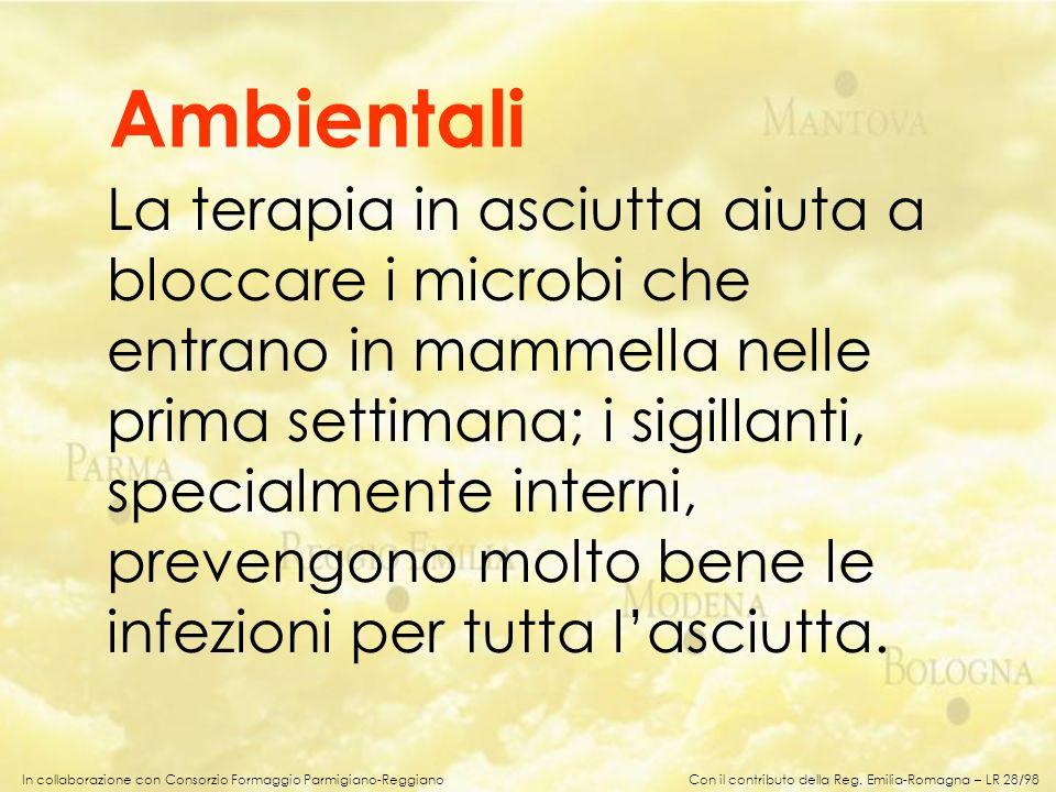 In collaborazione con Consorzio Formaggio Parmigiano-Reggiano La terapia in asciutta aiuta a bloccare i microbi che entrano in mammella nelle prima se