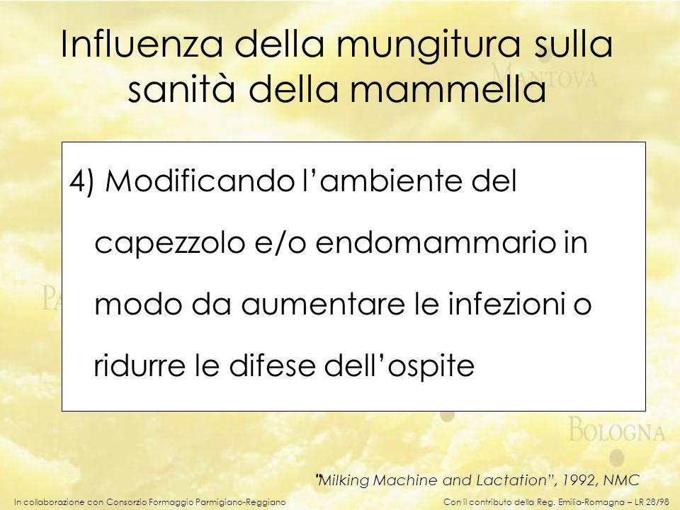 In collaborazione con Consorzio Formaggio Parmigiano-Reggiano 4) Modificando lambiente del capezzolo e/o endomammario in modo da aumentare le infezion