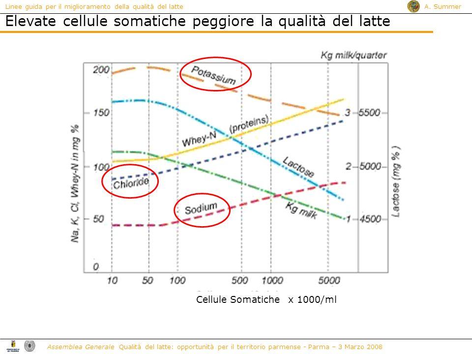 Linee guida per il miglioramento della qualità del latte A. Summer Assemblea Generale Qualità del latte: opportunità per il territorio parmense - Parm