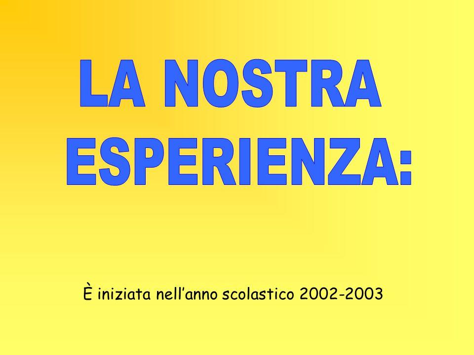 È iniziata nellanno scolastico 2002-2003