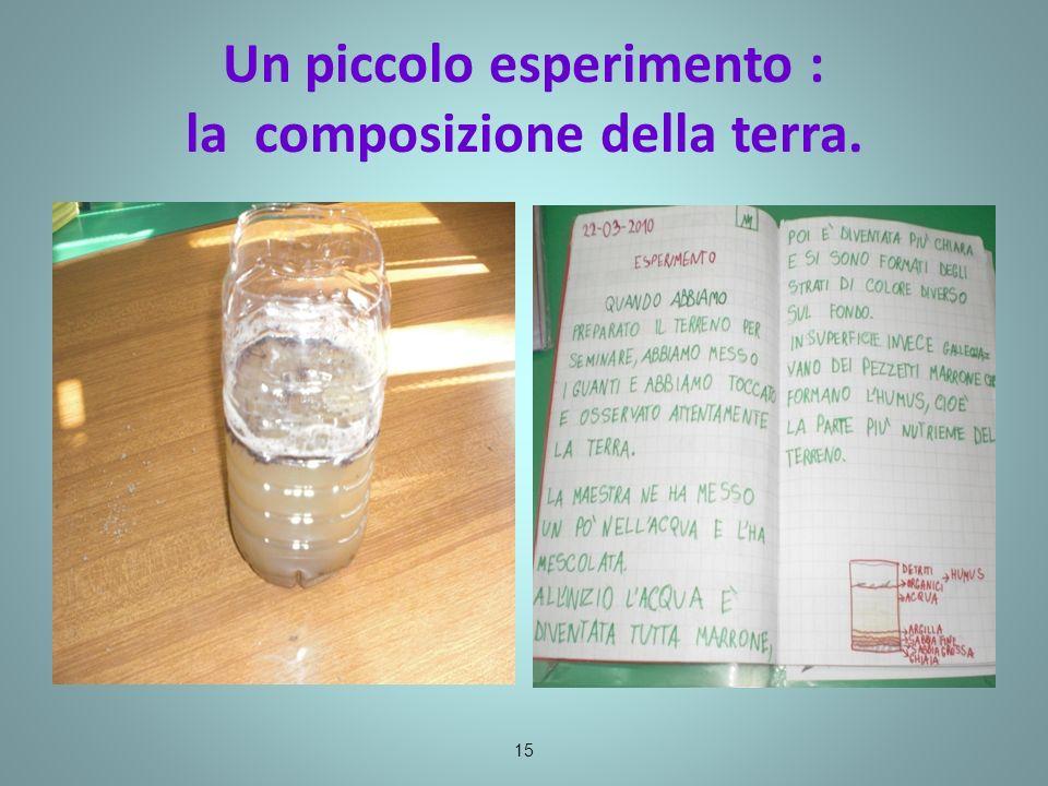 Un piccolo esperimento : la composizione della terra. 15