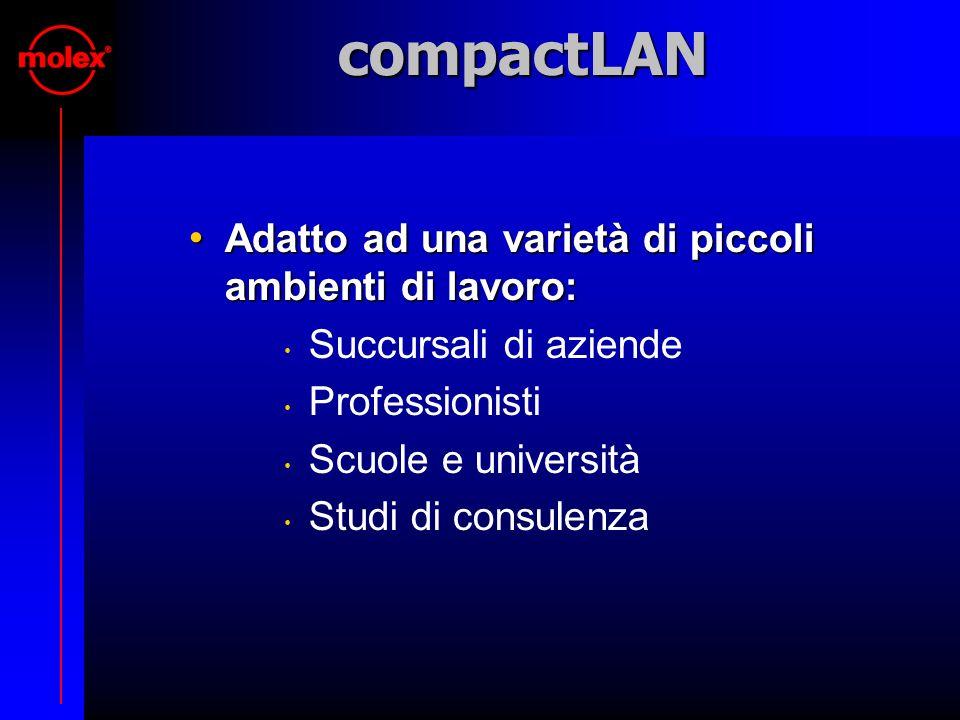 compactLAN Adatto ad una varietà di piccoli ambienti di lavoro: Adatto ad una varietà di piccoli ambienti di lavoro: Succursali di aziende Professioni