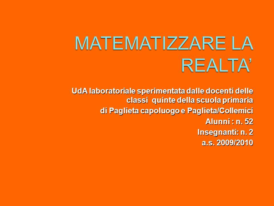 UdA laboratoriale sperimentata dalle docenti delle classi quinte della scuola primaria di Paglieta capoluogo e Paglieta/Collemici Alunni : n. 52 Inseg