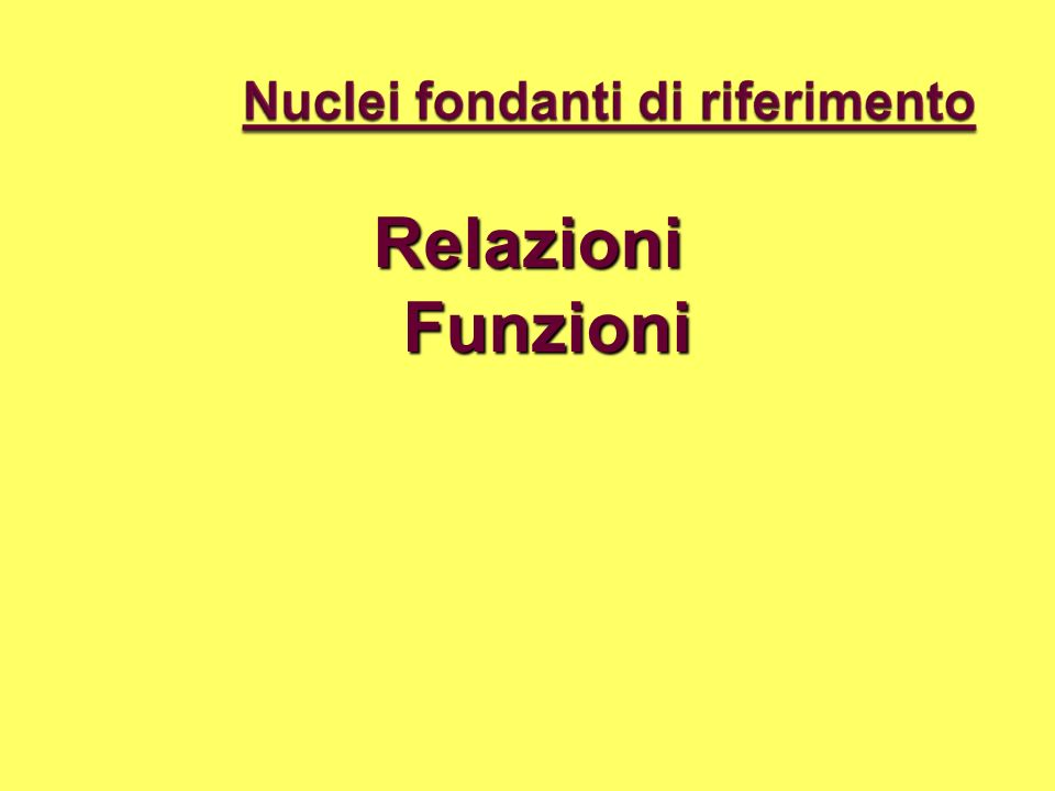 Relazioni Funzioni