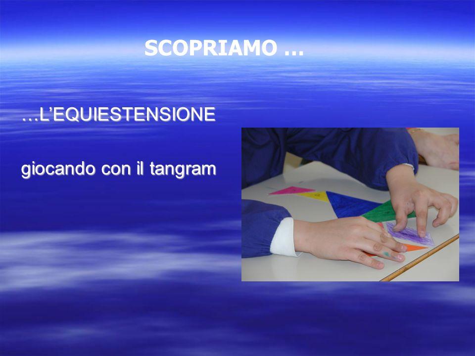 …LEQUIESTENSIONE giocando con il tangram SCOPRIAMO …