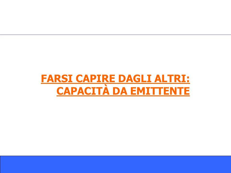 FARSI CAPIRE DAGLI ALTRI: CAPACITÀ DA EMITTENTE