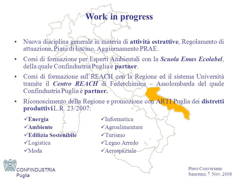 Nuova disciplina generale in materia di attività estrattive, Regolamento di attuazione, Piani di bacino, Aggiornamento PRAE.