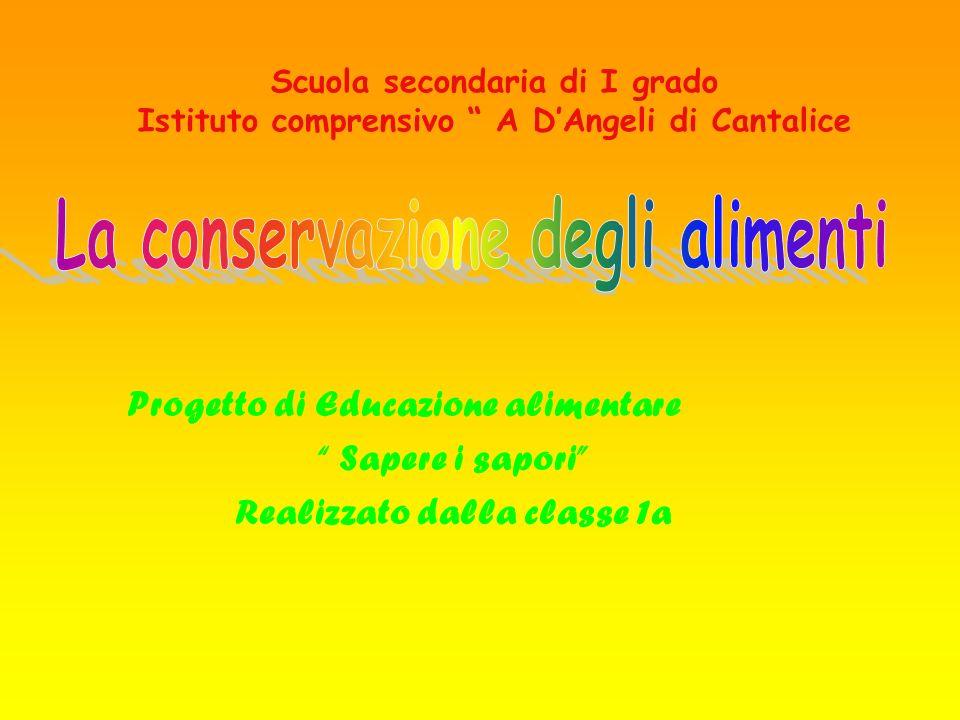 Scuola secondaria di I grado Istituto comprensivo A DAngeli di Cantalice Progetto di Educazione alimentare Sapere i sapori Realizzato dalla classe 1a