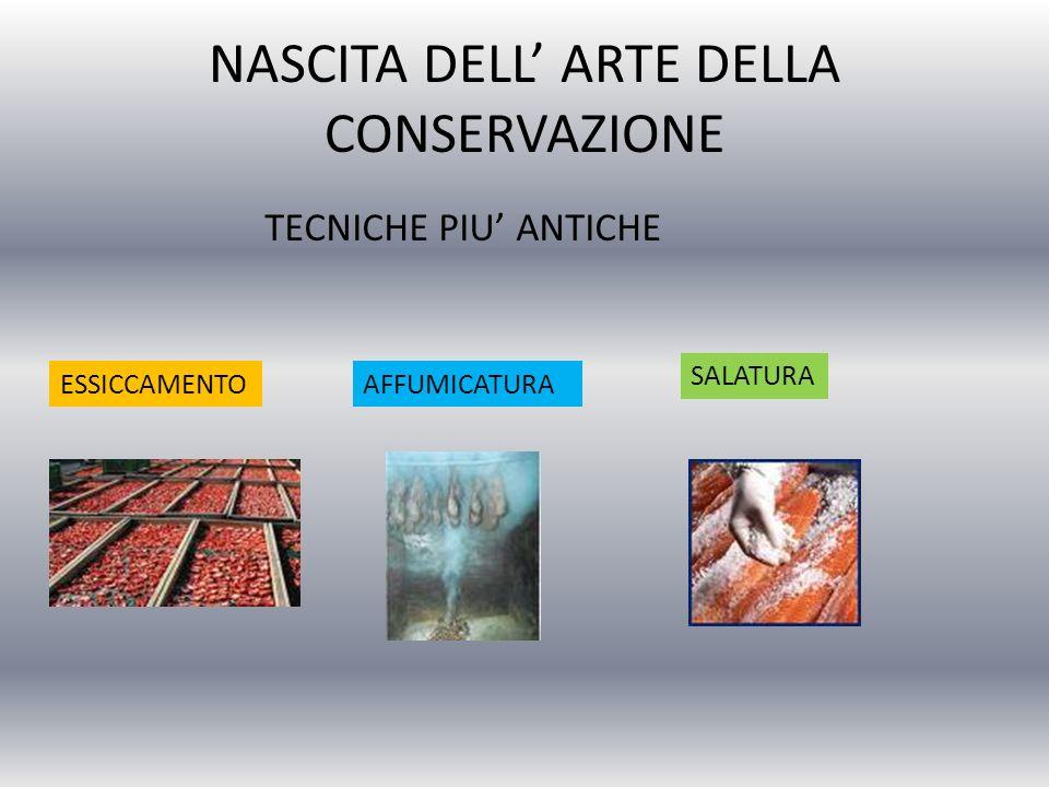 La tecnica dellessiccamento è particolarmente diffusa: Per la conservazione del pesce (merluzzo secco o stoccafisso) Per la conservazione dei vegetali(fichi, datteri, prugne, pesche, pomodori, funghi …) Per la conservazione del pane