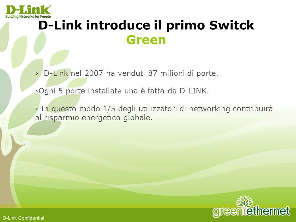 D-Link nel 2007 ha venduti 87 milioni di porte. Ogni 5 porte installate una è fatta da D-LINK.