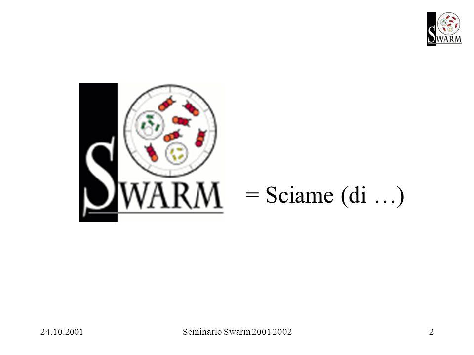 24.10.2001Seminario Swarm 2001 20022 = Sciame (di …)