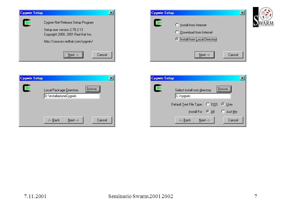 7.11.2001Seminario Swarm 2001 20028