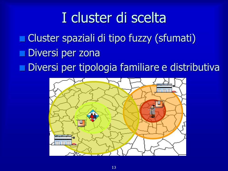 14 Il meccanismo di scelta Scelta del cluster Scelta del punto vendita