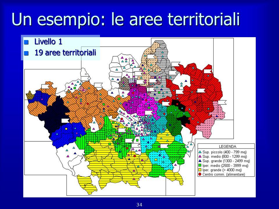 35 Un esempio: le aree intermedie n Livello 5 n 9 aree territoriali