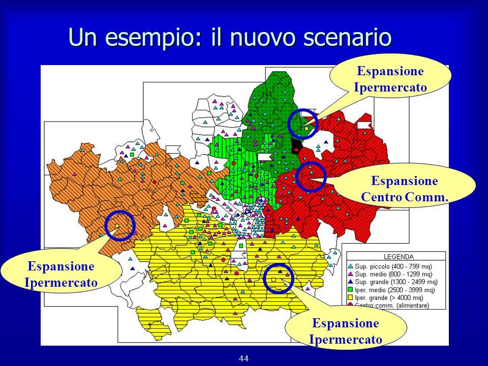 45 Un esempio: le aree di omogeneità riconfigurate n Livello 6 - finale n 8 aree territoriali (5+3)