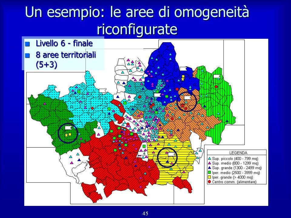 46 Conclusioni n Modello per il calcolo dei flussi domanda/offerta n Procedura per la definizione delle aree di omogeneità Strumenti di supporto per lanalisi e la pianificazione del sistema distributivo