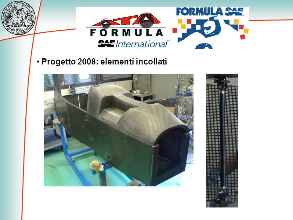 Progetto 2008: elementi incollati