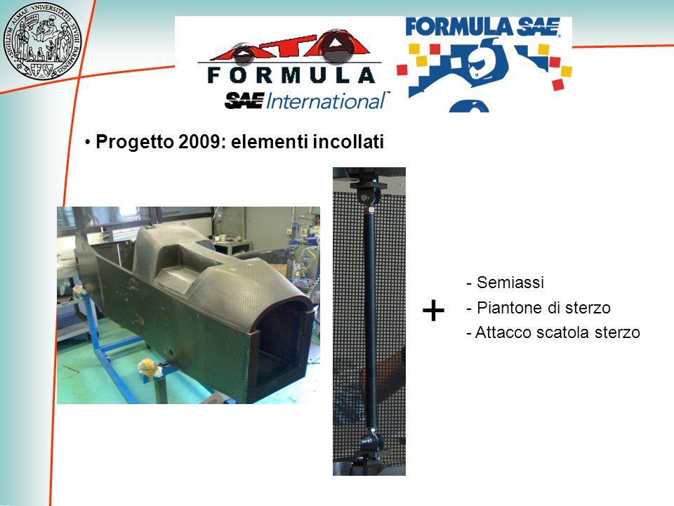Progetto 2009: elementi incollati - Semiassi - Piantone di sterzo - Attacco scatola sterzo +