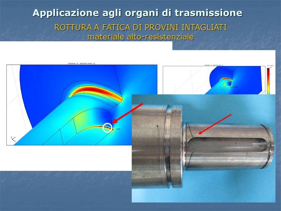 Applicazione agli organi di trasmissione ROTTURA A FATICA DI PROVINI INTAGLIATI materiale alto-resistenziale