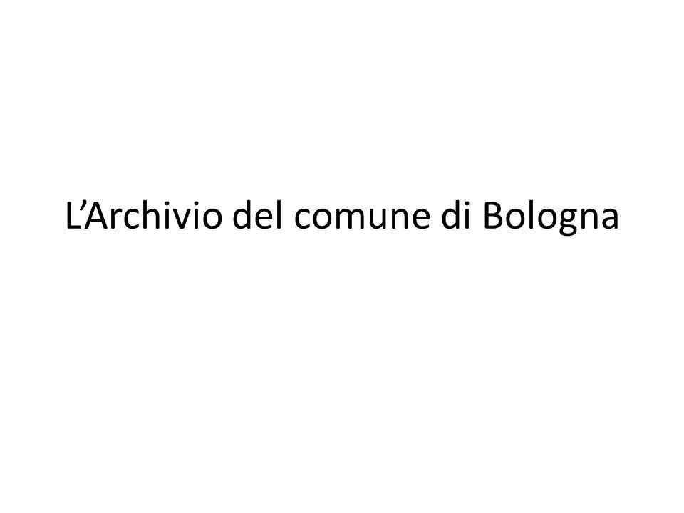 LArchivio del comune di Bologna
