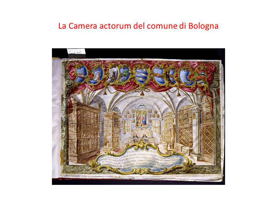 La Camera actorum del comune di Bologna
