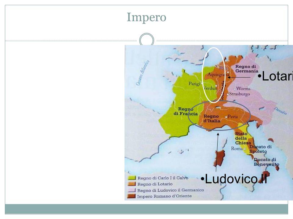 Germania e Italia Poi si formarono alcune grandi regioni guidate da 5-6 dinastie autonome (Sassonia, Franconia, Svevia, Baviera e Turingia) e non ci fu la frantumazione come in Francia Tra queste 5 famiglie si decideva la dinastia regnante.