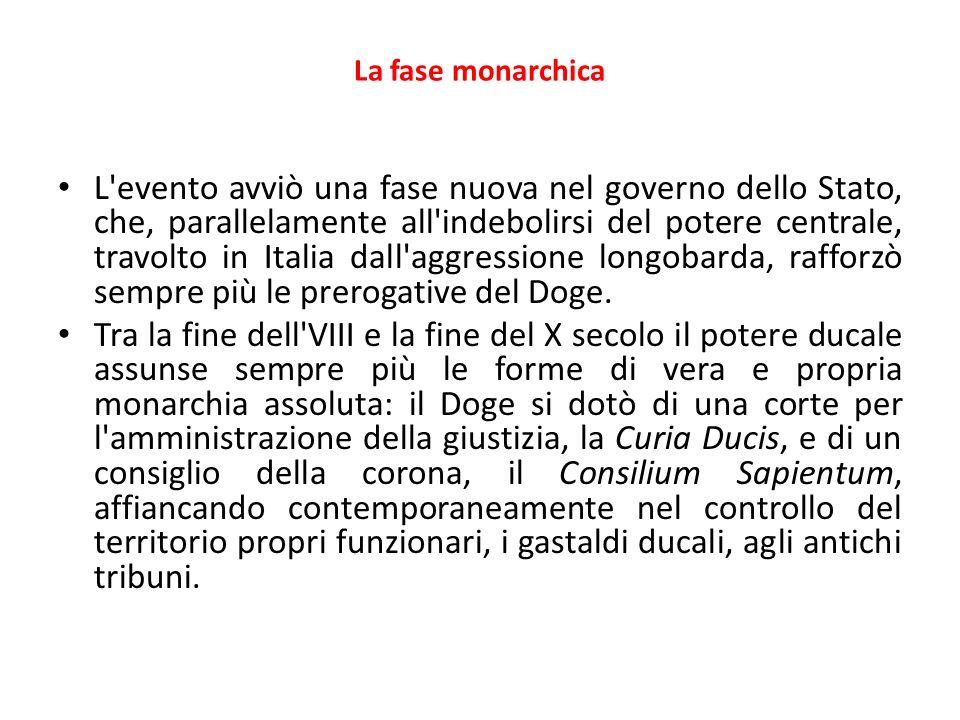 La fase monarchica L'evento avviò una fase nuova nel governo dello Stato, che, parallelamente all'indebolirsi del potere centrale, travolto in Italia