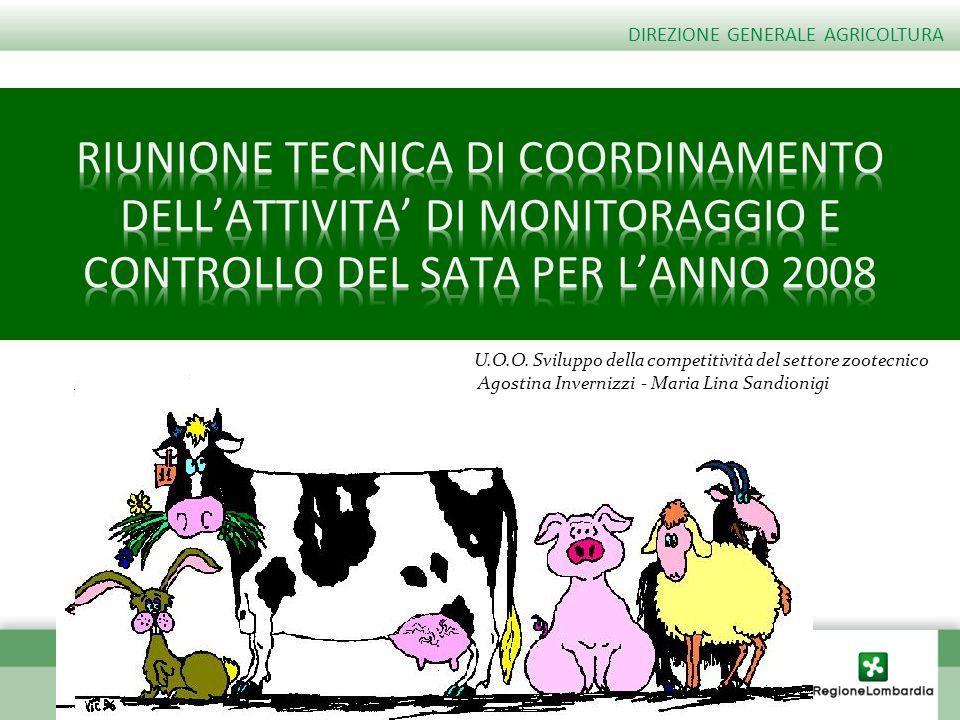 DIREZIONE GENERALE AGRICOLTURA U.O.O. Sviluppo della competitività del settore zootecnico Agostina Invernizzi - Maria Lina Sandionigi