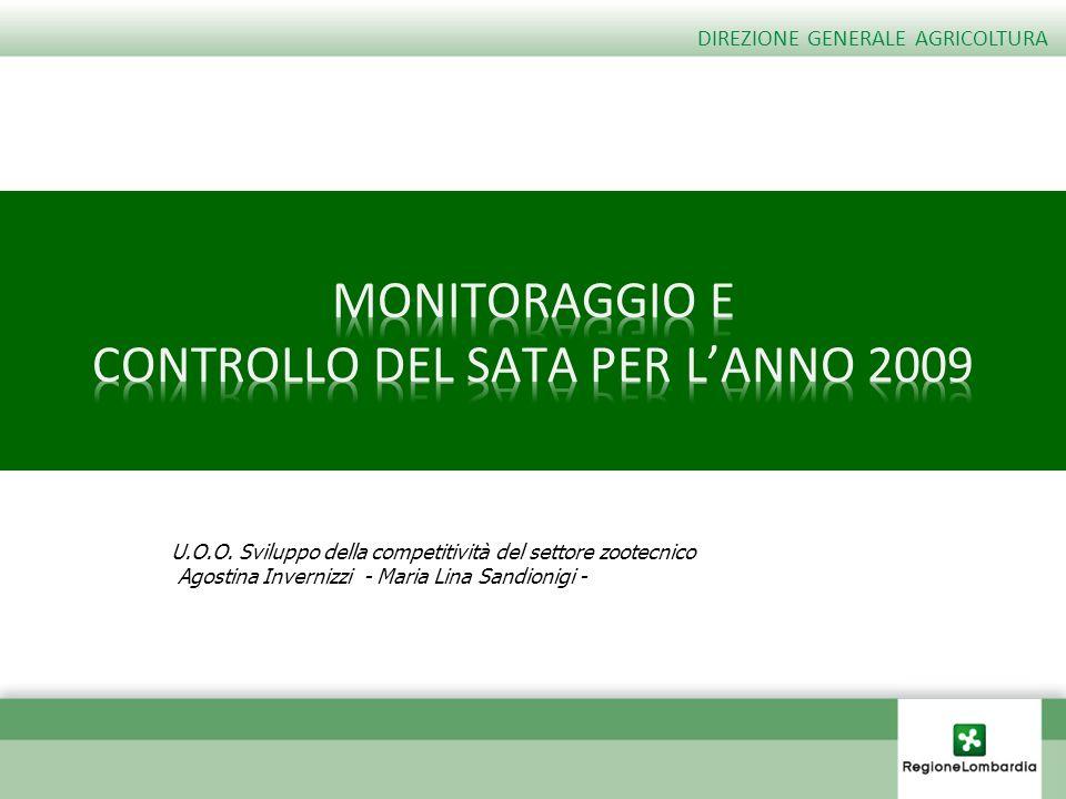 U.O.O. Sviluppo della competitività del settore zootecnico Agostina Invernizzi - Maria Lina Sandionigi - DIREZIONE GENERALE AGRICOLTURA
