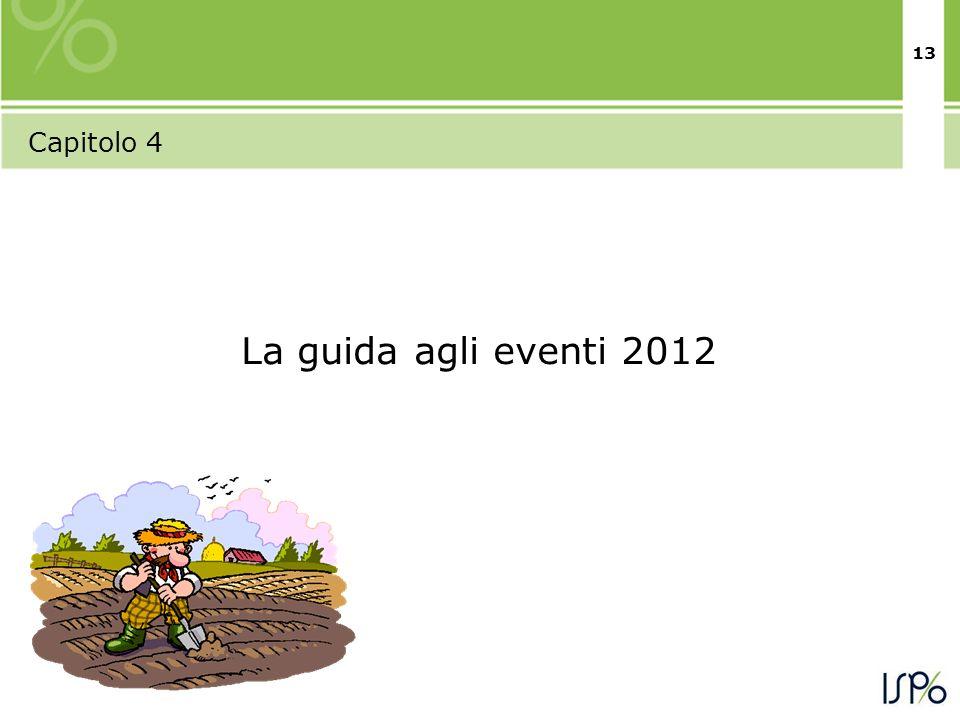 13 Capitolo 4 La guida agli eventi 2012