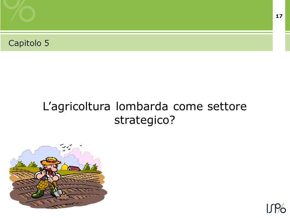 17 Capitolo 5 Lagricoltura lombarda come settore strategico?