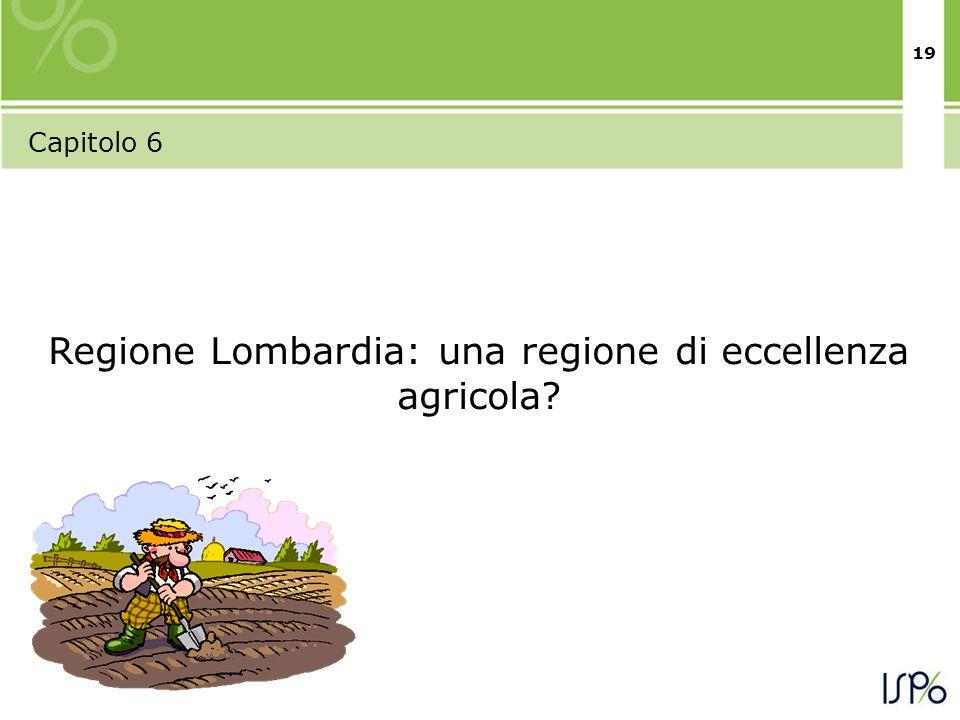 19 Capitolo 6 Regione Lombardia: una regione di eccellenza agricola