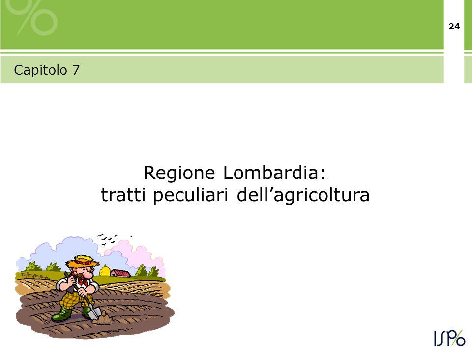 24 Capitolo 7 Regione Lombardia: : tratti peculiari dellagricoltura
