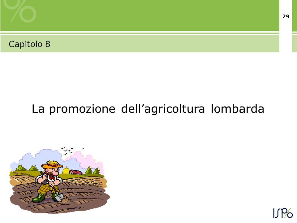 29 Capitolo 8 La promozione dellagricoltura lombarda