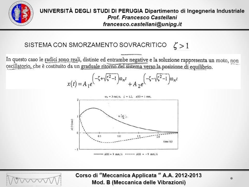 UNIVERSITÀ DEGLI STUDI DI PERUGIA Dipartimento di Ingegneria Industriale Prof.