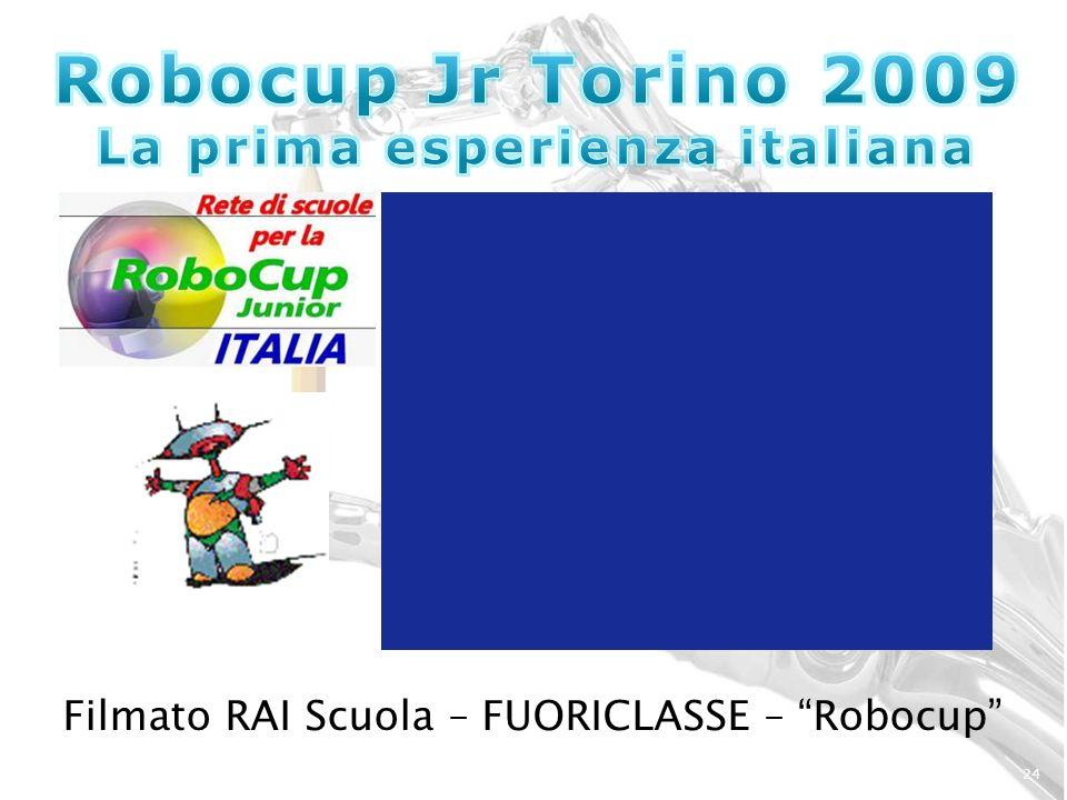 24 Filmato RAI Scuola – FUORICLASSE – Robocup