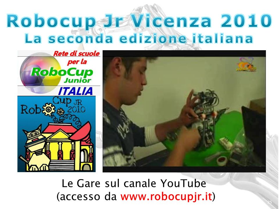 25 Le Gare sul canale YouTube (accesso da www.robocupjr.it)