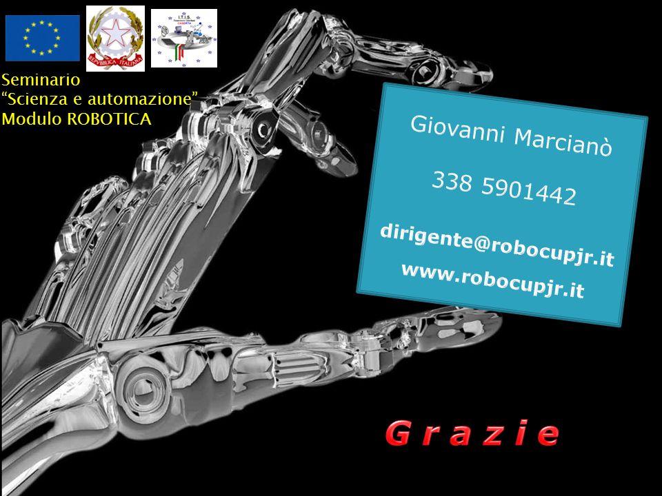 37 Seminario Scienza e automazione Modulo ROBOTICA