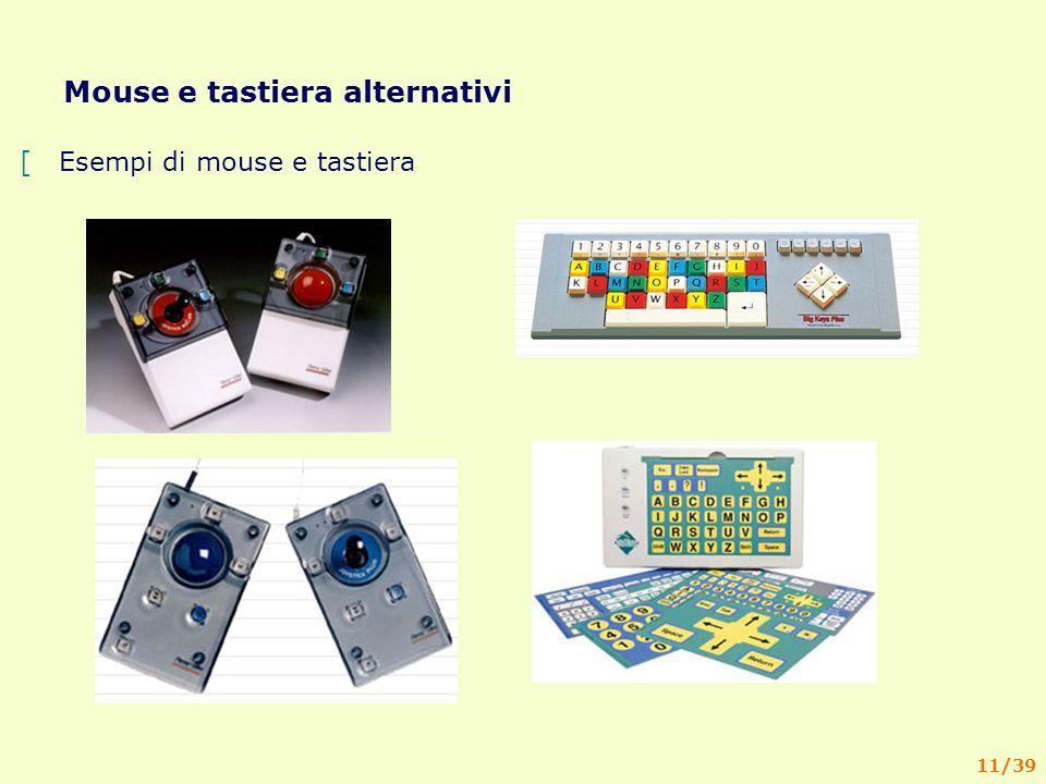 11/39 Mouse e tastiera alternativi [Esempi di mouse e tastiera