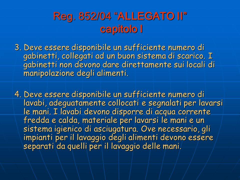 Reg.852/04 ALLEGATO II capitolo I 3.