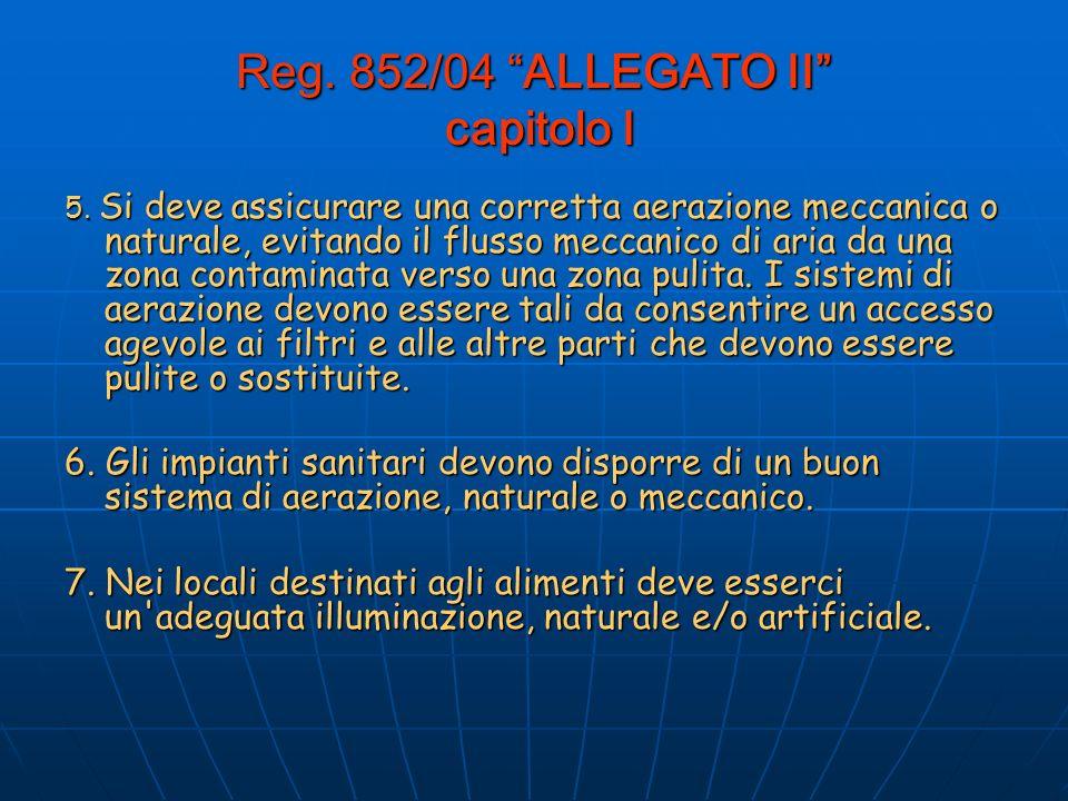 Reg.852/04 ALLEGATO II capitolo I 5.