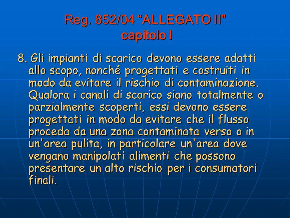 Reg.852/04 ALLEGATO II capitolo I 8.