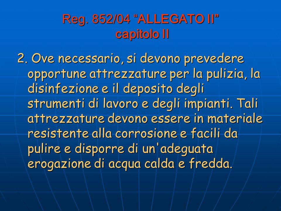 Reg.852/04 ALLEGATO II capitolo II 2.