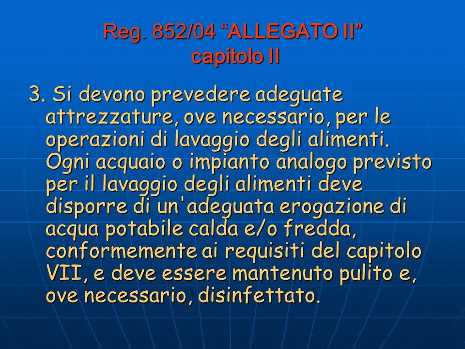 Reg.852/04 ALLEGATO II capitolo II 3.