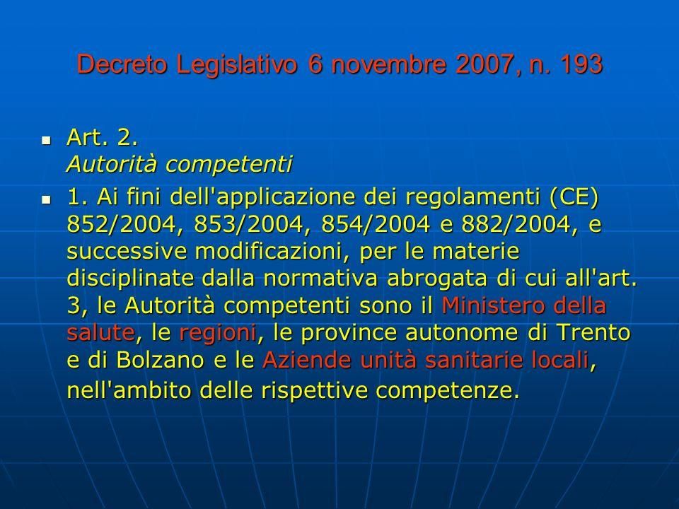 Decreto Legislativo 6 novembre 2007, n.193 Art. 2.