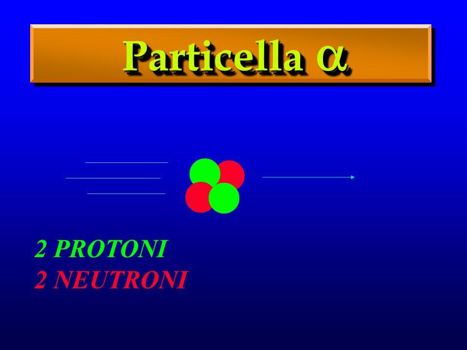 2 PROTONI 2 NEUTRONI Particella Particella....