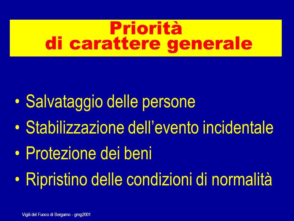 Vigili del Fuoco di Bergamo - gmg2001 Ma comunque vada, i soccorritori hanno sempre le stesse priorità…