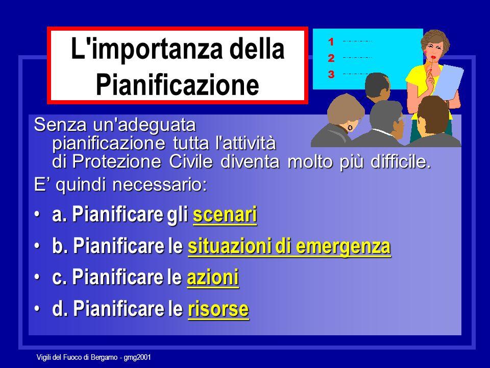 Vigili del Fuoco di Bergamo - gmg2001 non aver alcun piano Il peggior piano di emergenza è Il secondo peggior piano è averne due